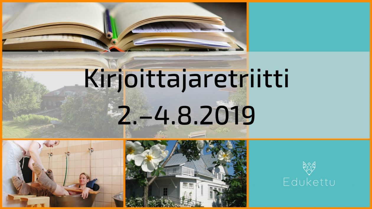 Kirjoittajaretriitti 2.–4.8.2019